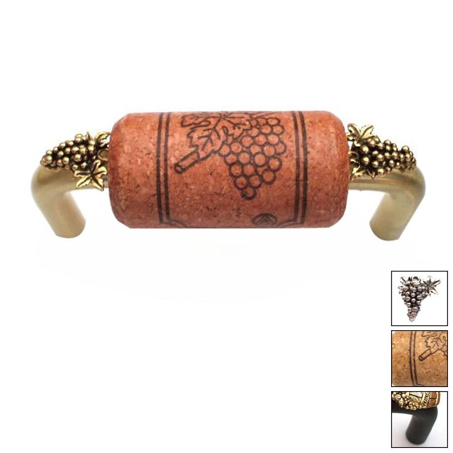 Vine Designs 3-in Center-to-Center Bronze Vineyard Novelty Cabinet Pull