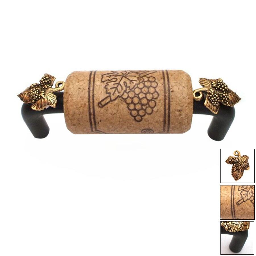 Vine Designs 4-in Center-to-Center Bronze Vineyard Novelty Cabinet Pull