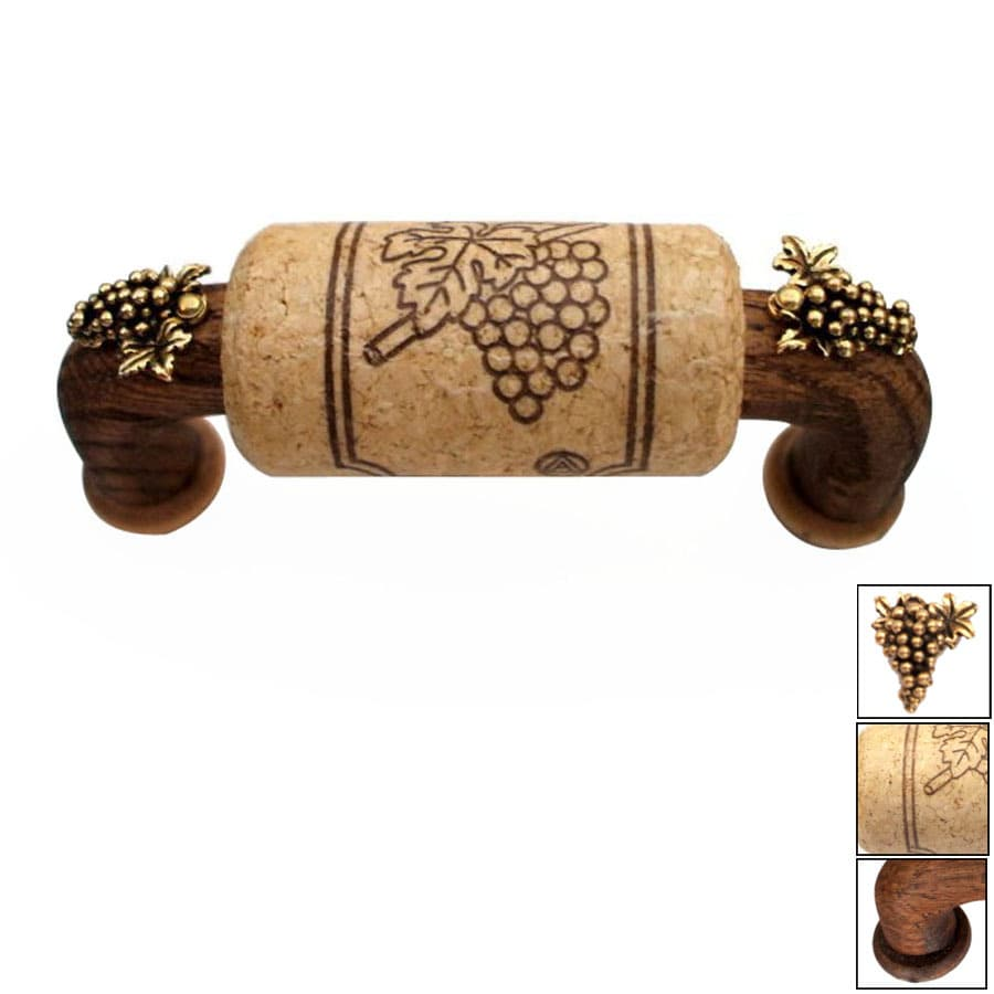 Vine Designs 3-in Center-To-Center Espresso Vineyard Novelty Cabinet Pull