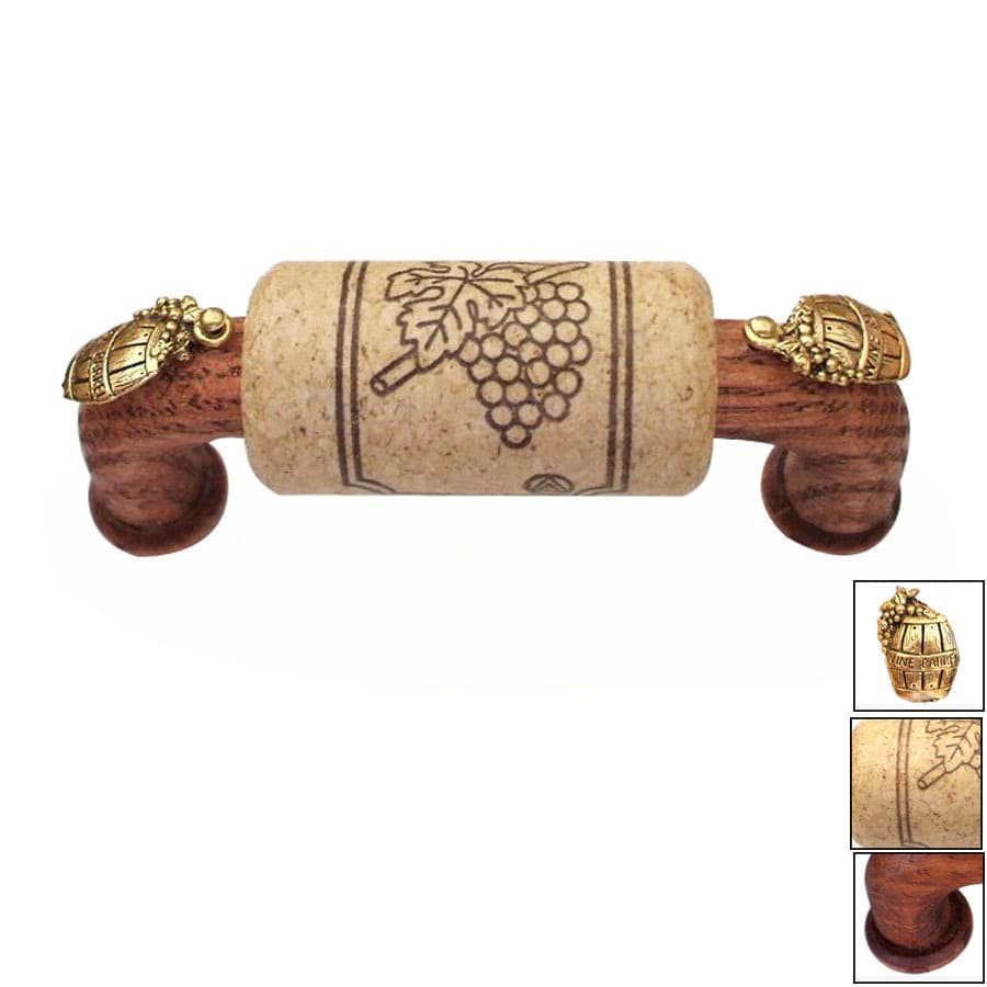 Vine Designs 3-in Center-to-Center Mahogany Vineyard Novelty Cabinet Pull
