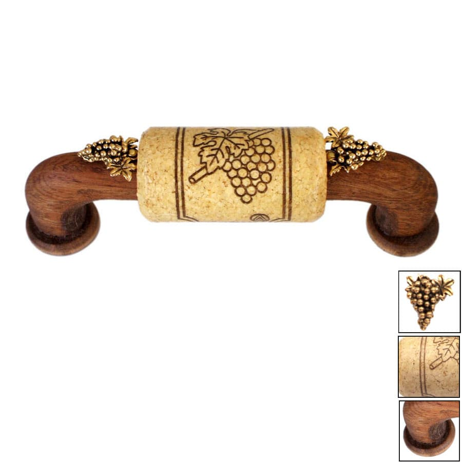 Vine Designs 3-3/4-in Center-to-Center Walnut Vineyard Novelty Cabinet Pull