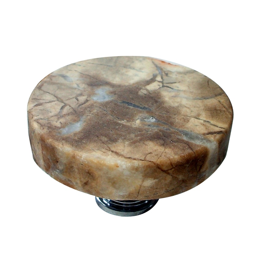Vine Designs Tuscany Polished Gold Round Cabinet Knob