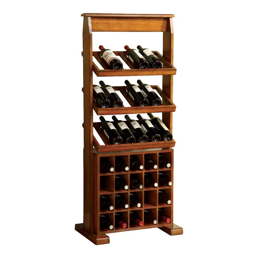 Furniture of America Guarda 38-Bottle Antique Oak Finish Freestanding Floor  Wine Rack - Shop Furniture Of America Guarda 38-Bottle Antique Oak Finish