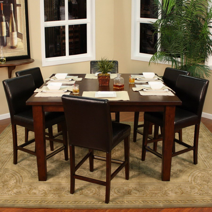 American Heritage Billiards Banbury Suede Square Dining Table