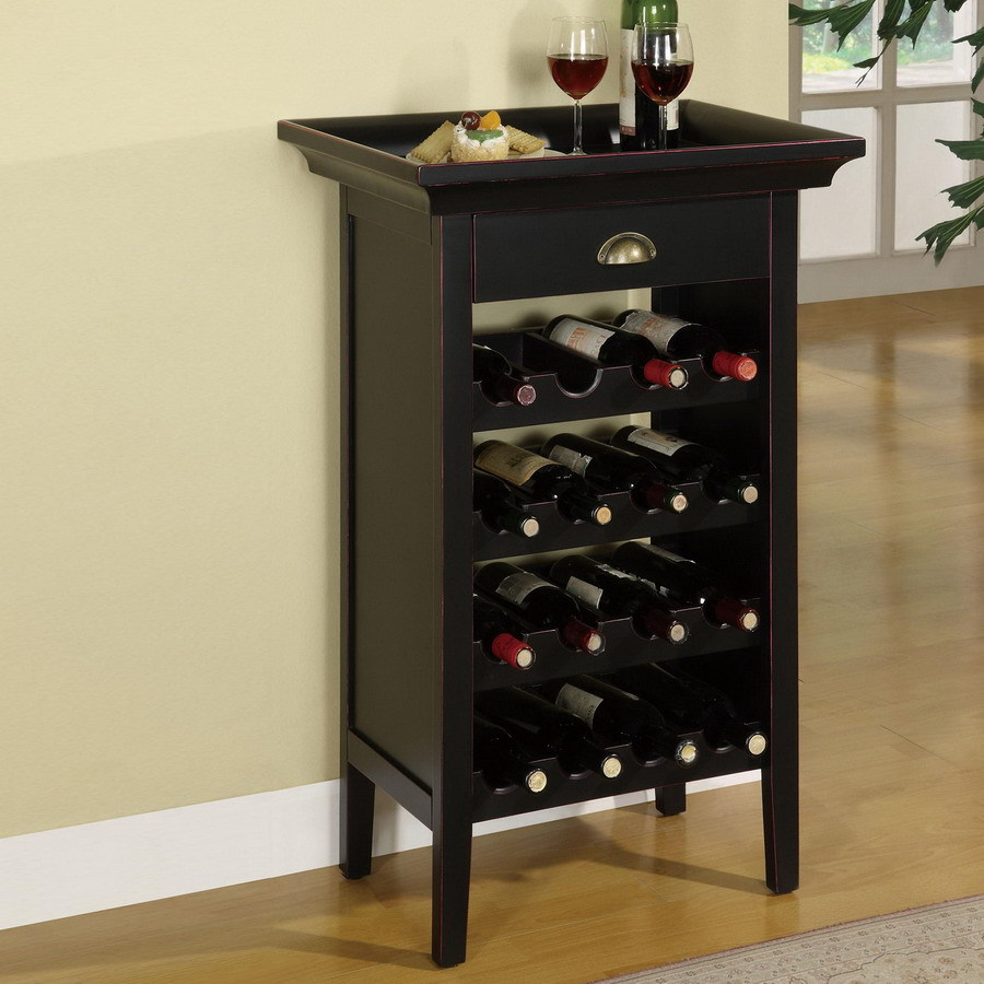 Uncategorized Floor Standing Wine Racks shop powell 16 bottle black freestanding floor wine rack at lowes com rack
