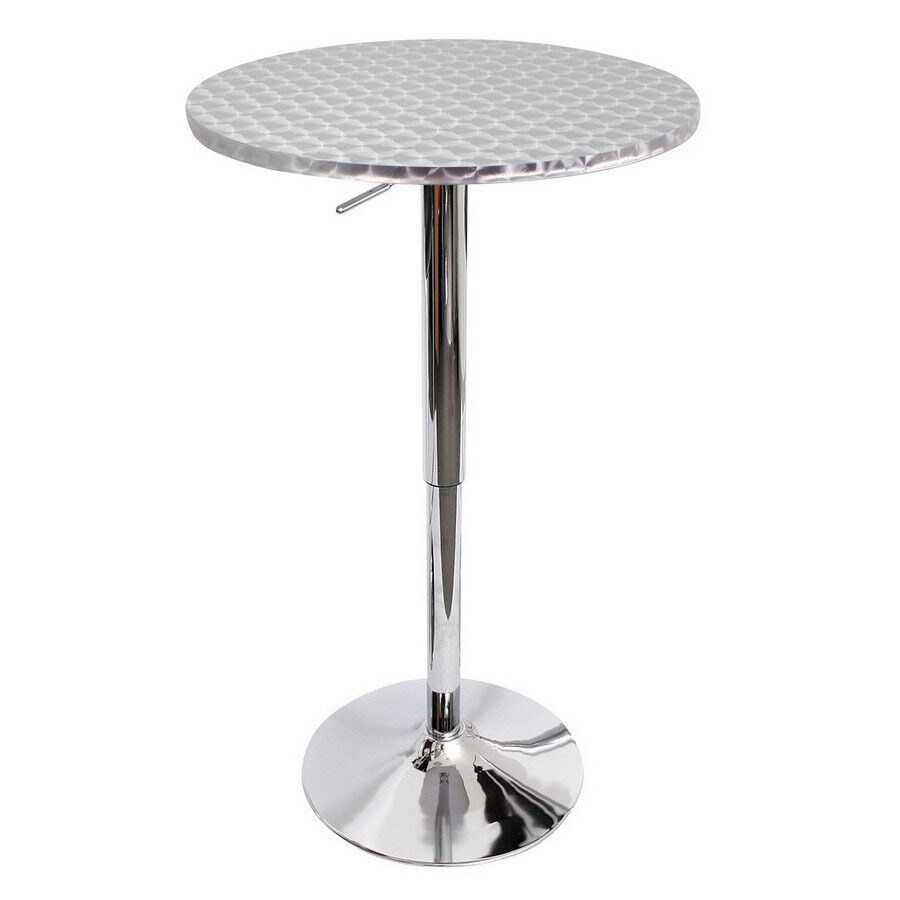 Beautiful Lumisource Polished Stainless Steel Round Dining Table
