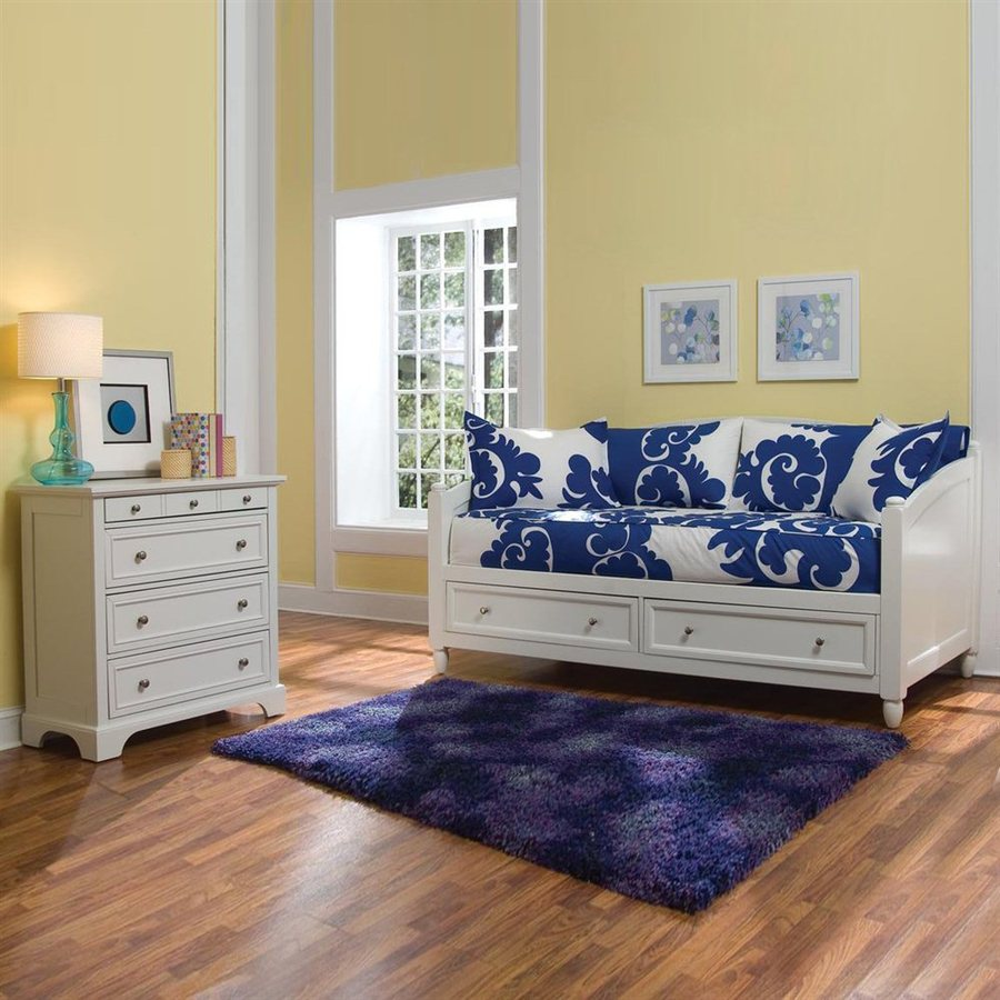 Home Styles Naples White Twin Bedroom Set