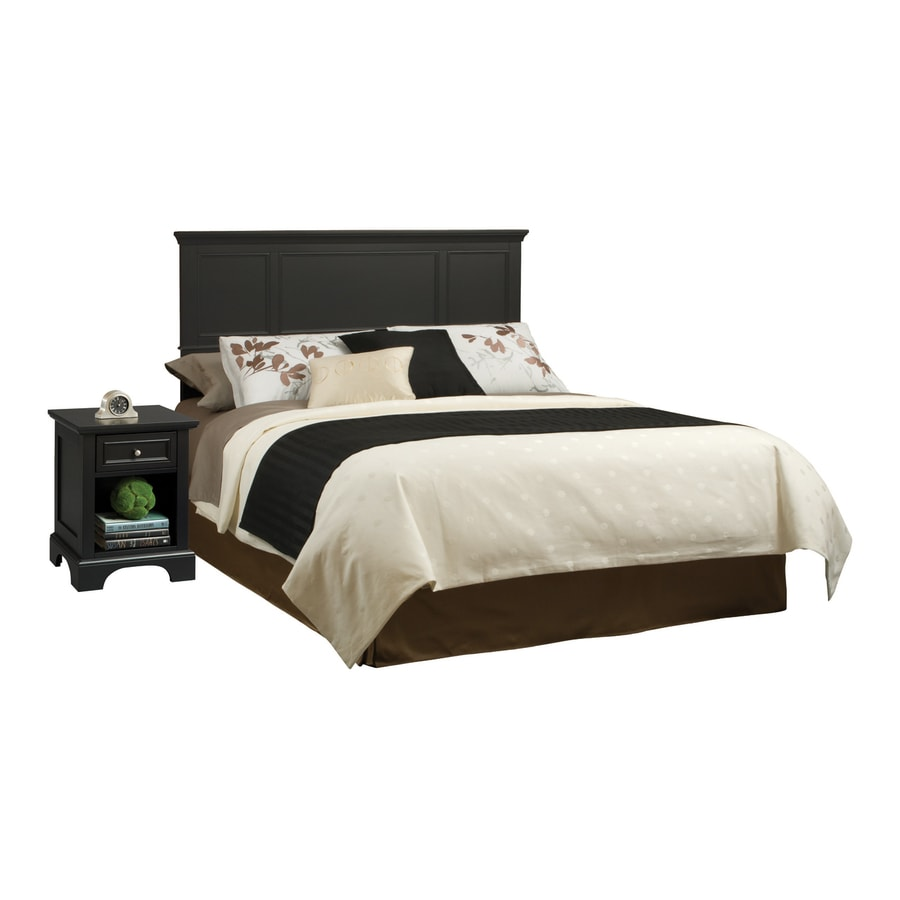 Shop home styles bedford black queen bedroom set at for Queen furniture set
