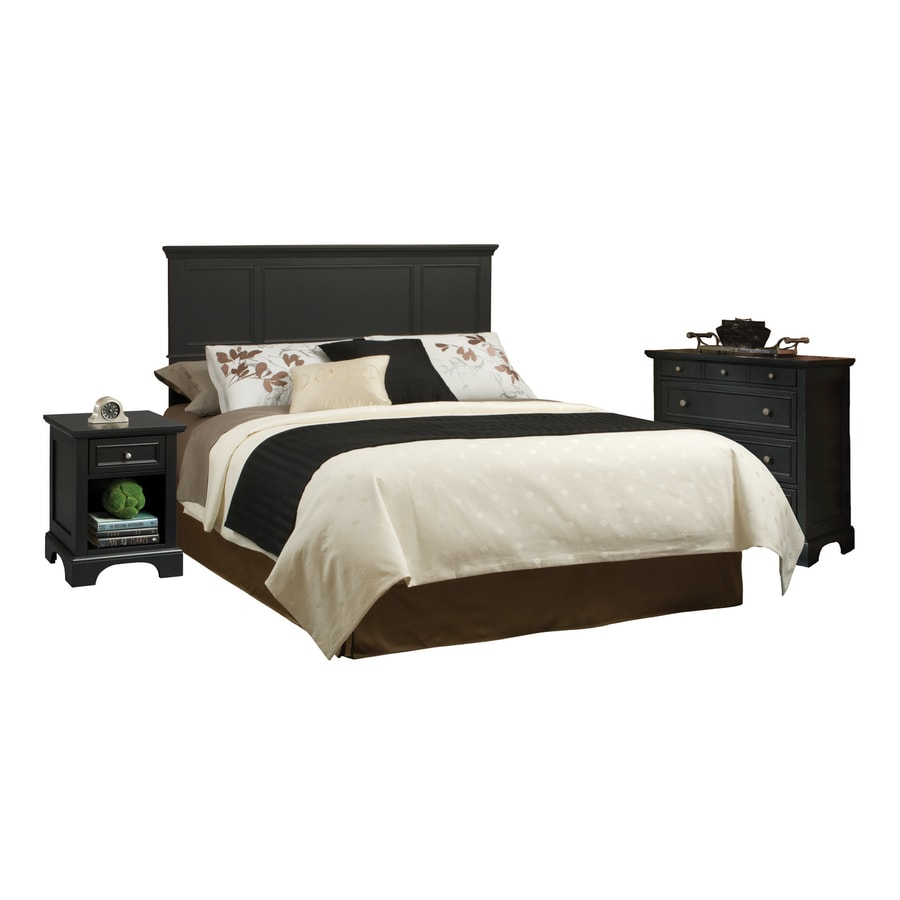 home styles bedford black queen bedroom set headboard