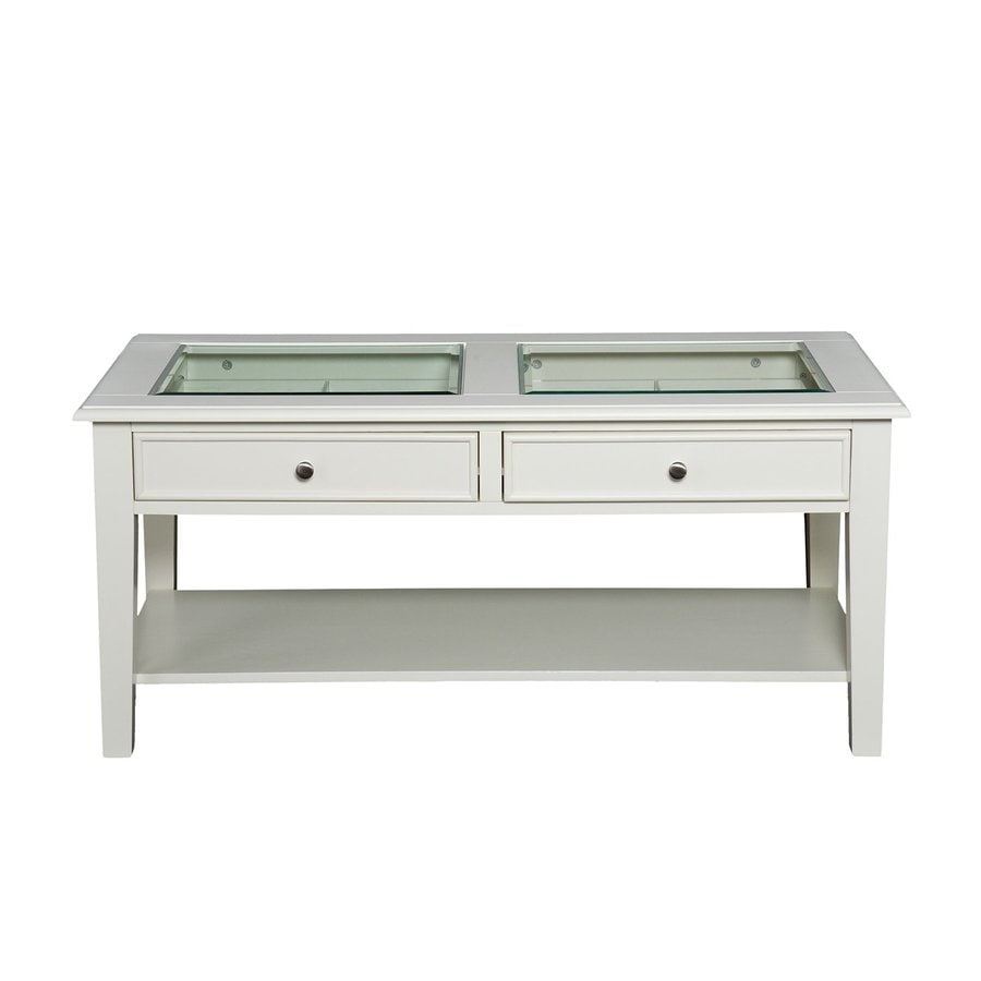 Boston Loft Furnishings Panorama White Glass Coffee Table