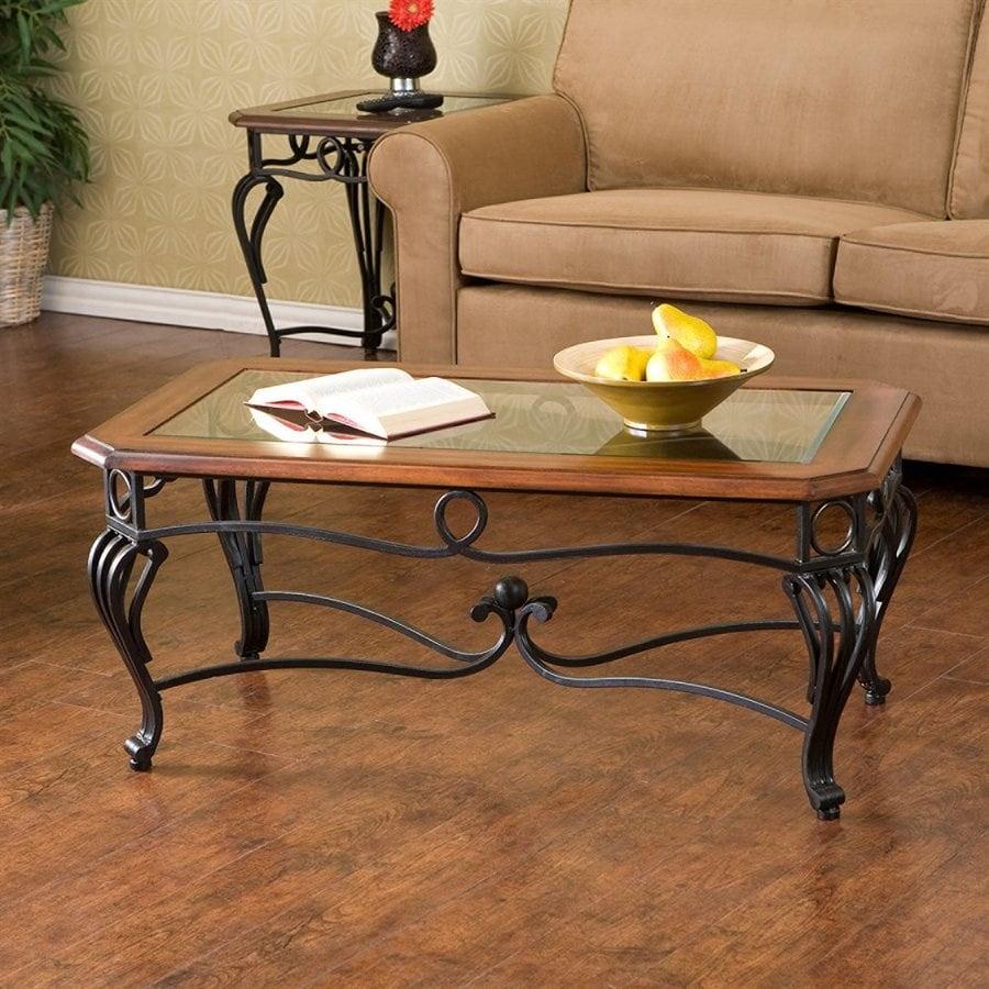 Boston Loft Furnishings Prentice Dark Cherry Composite Rectangular Coffee Table