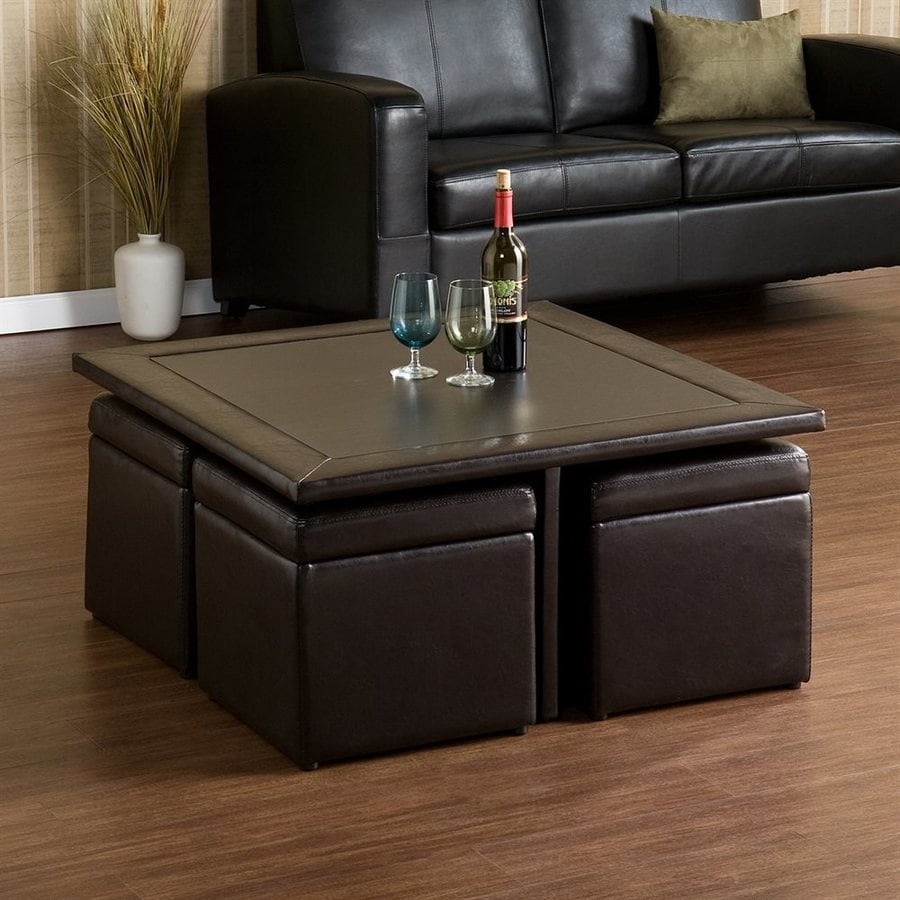 Boston Loft Furnishings Justin Dark Chocolate  Square Coffee Table