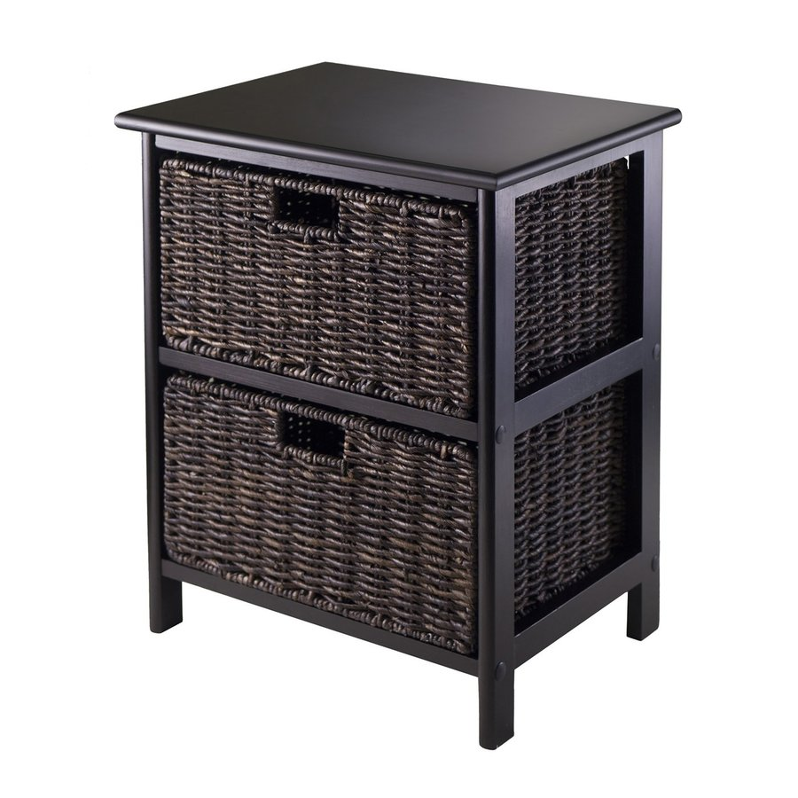 Winsome Wood Omaha Black Rectangular End Table