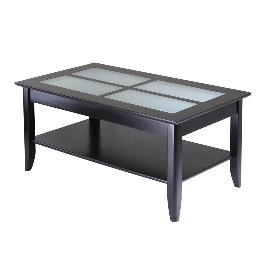 Winsome Wood Syrah Glass Coffee Table