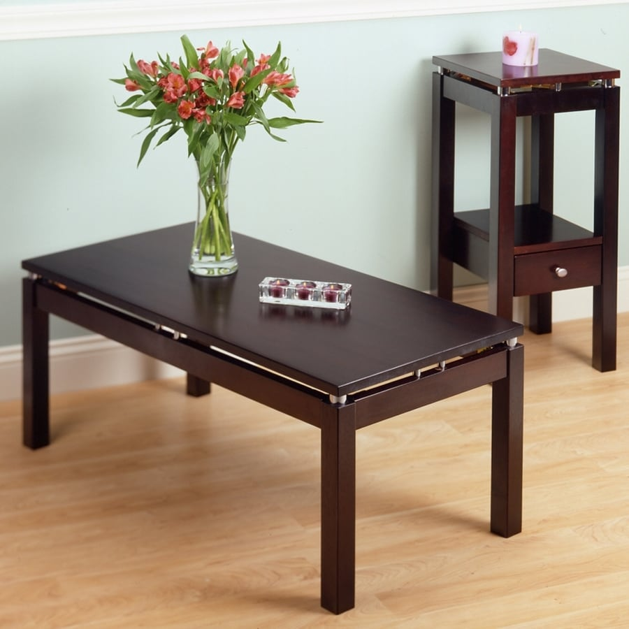 Winsome Wood Linea Chrome Rectangular Coffee Table