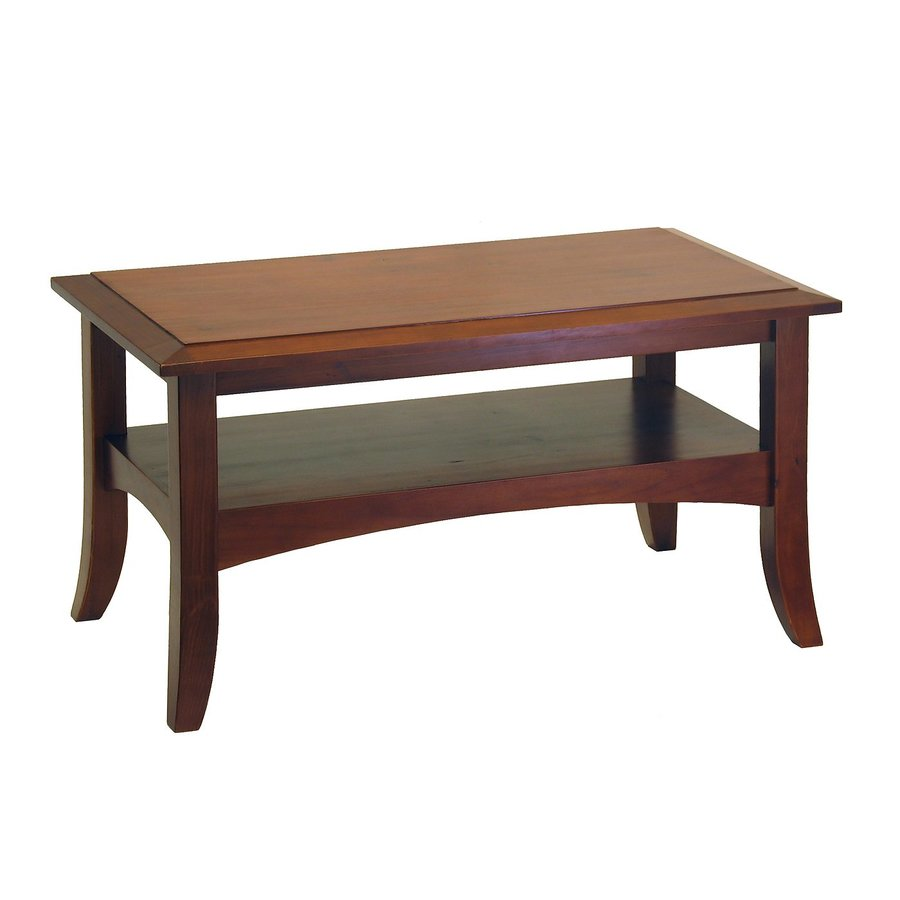 Winsome Wood Antique Walnut Pine Coffee Table