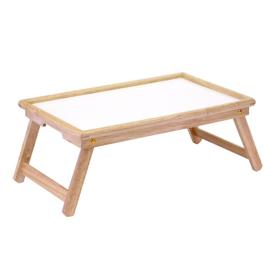Winsome Wood 22-in x 14-in Natural/White Wood Rectangle Serving Tray
