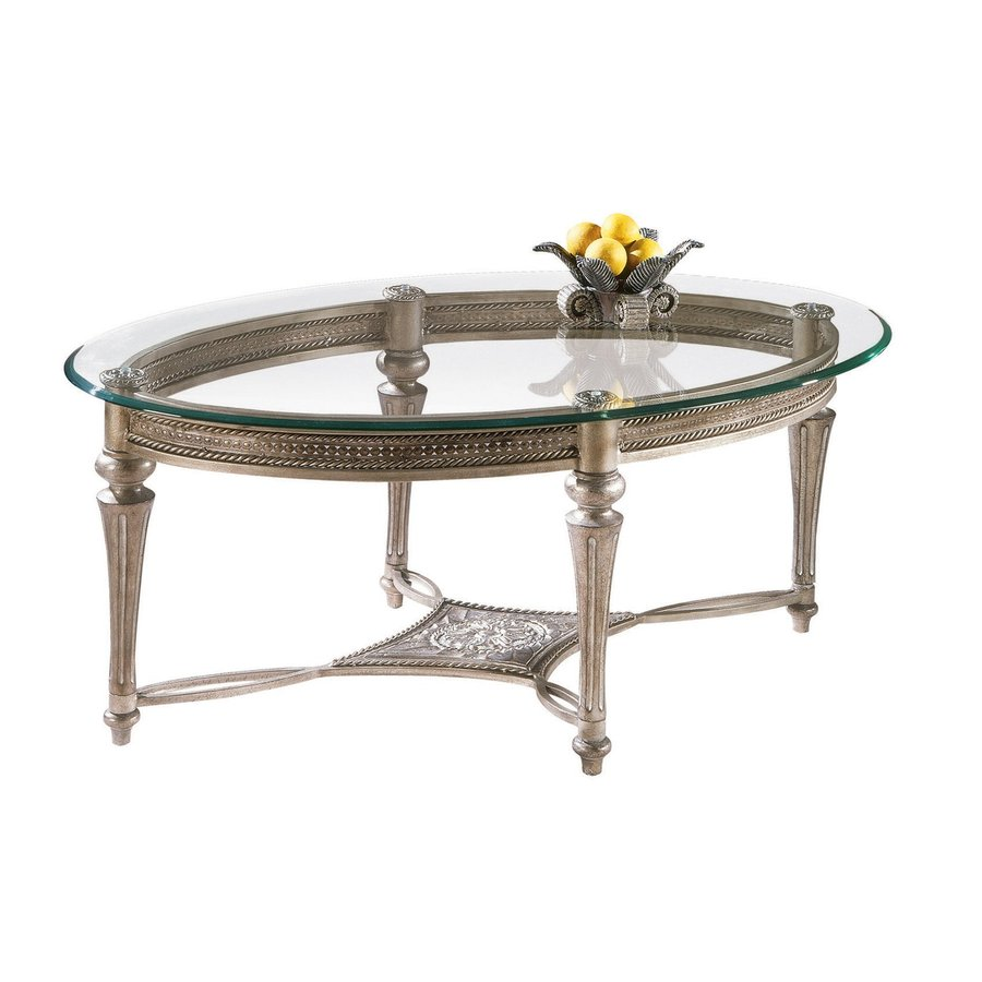 Shop Magnussen Home Galloway Subtle Gold Oval Coffee Table at Lowescom