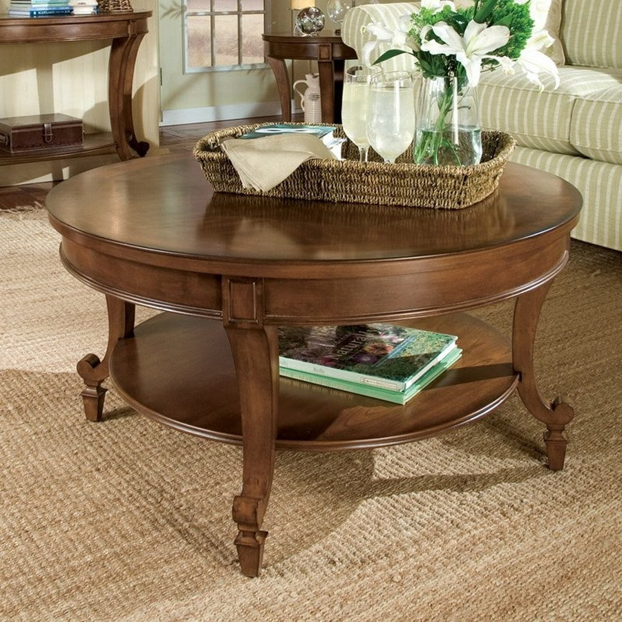 Magnussen Home Aidan Cinnamon Cherry Round Coffee Table