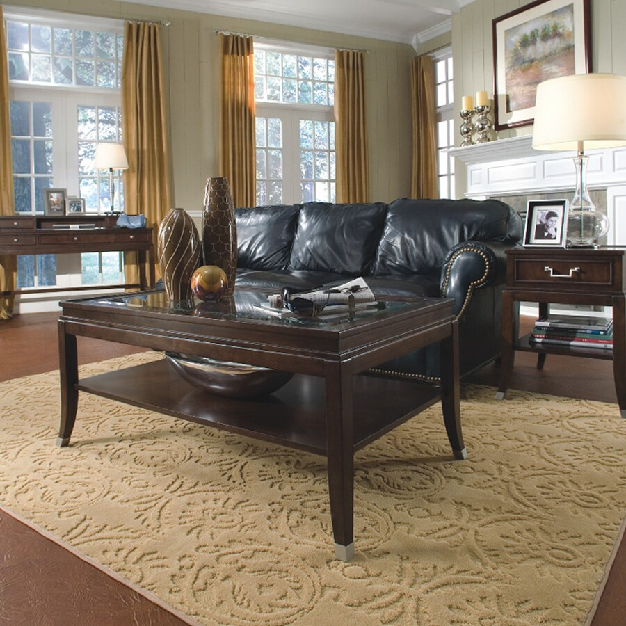 Magnussen Home Lakefield Merlot Cherry Rectangular Coffee Table