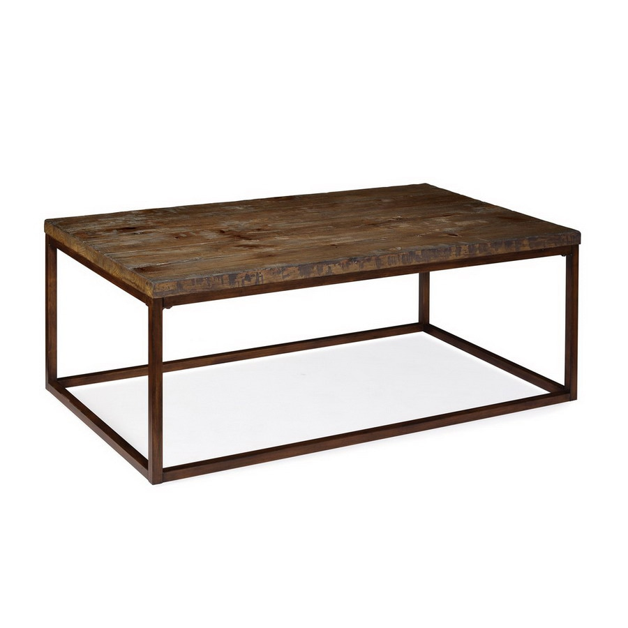 Magnussen Home Pinecrest Natural Pine Cherry Rectangular Coffee Table In The Coffee Tables Department At Lowes Com
