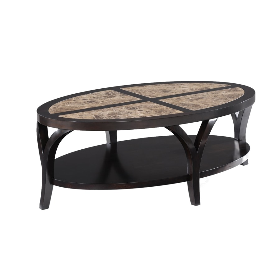 Pleasant Magnussen Home Vitelli Espresso Cherry Oval Coffee Table At Pabps2019 Chair Design Images Pabps2019Com