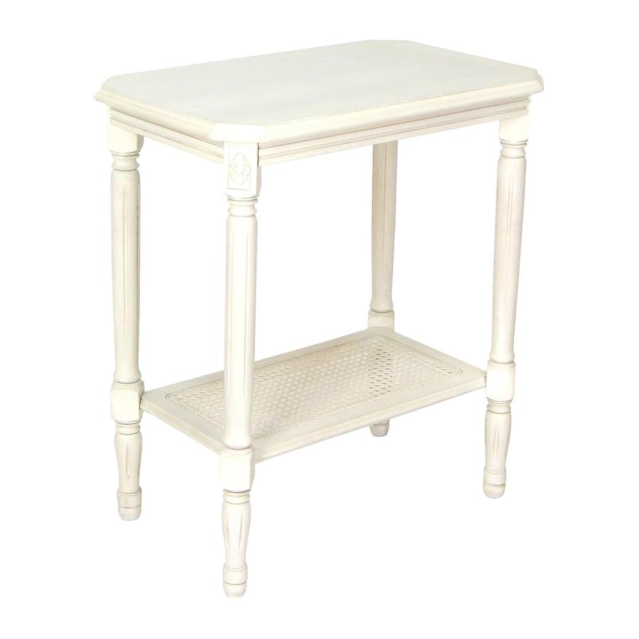 Wayborn Furniture Whitewash Basswood Rectangular End Table