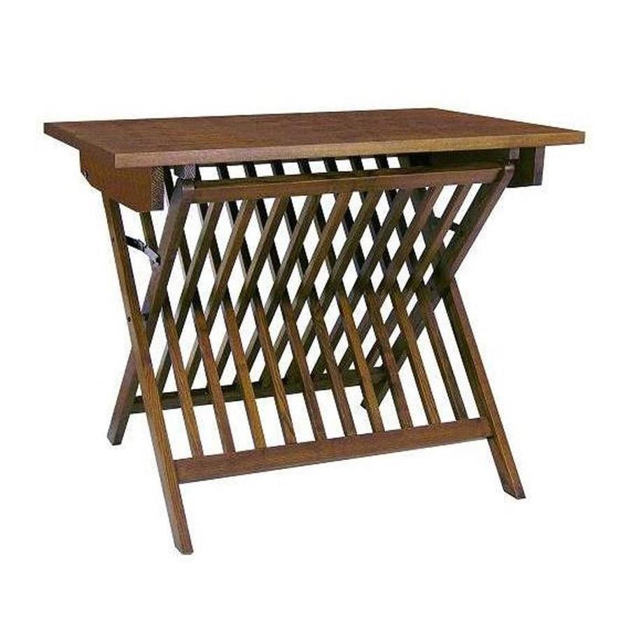 Wayborn Furniture 37-in x 24-in Rectangle Wood Oak Folding Table