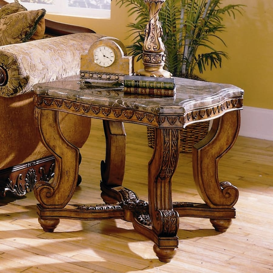 Marble Coffee Table Ornate: Shop Homelegance Tarantula Burnished Brown Cherry Granite