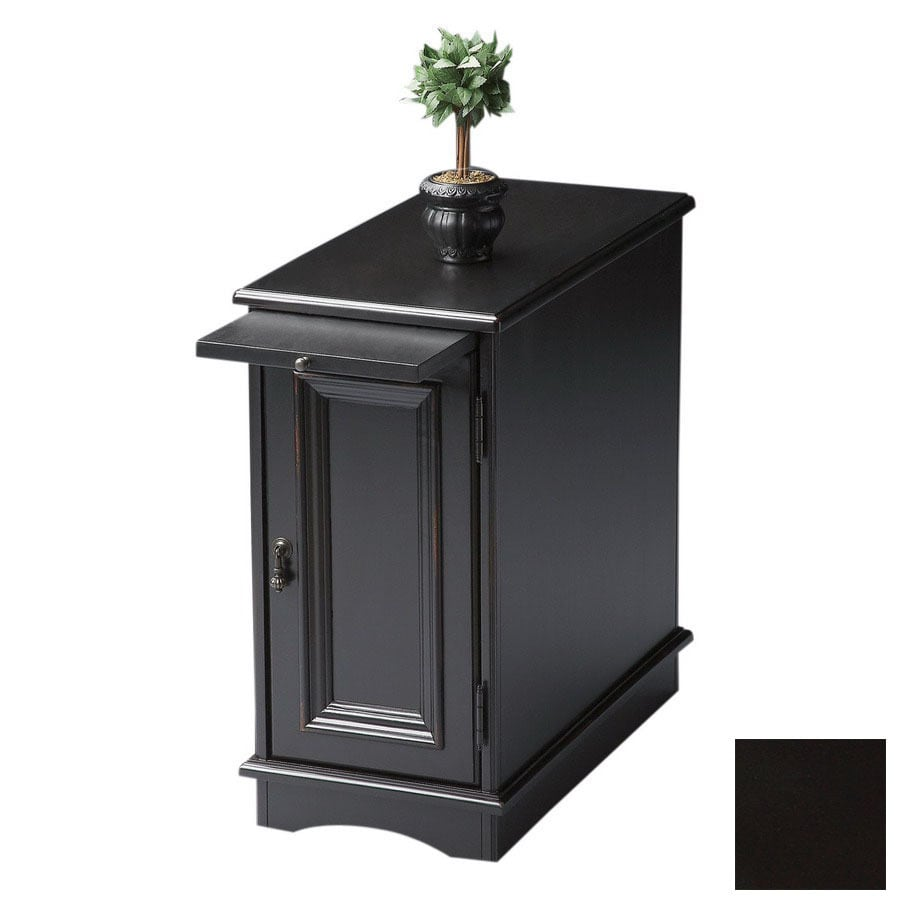 Genial Butler Specialty Masterpiece Black Licorice Rectangular End Table