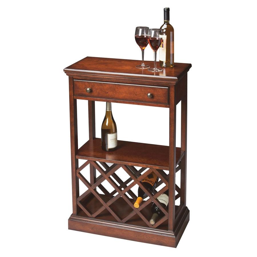 shop butler specialty plantation bottle cherry freestanding  - butler specialty plantation bottle cherry freestanding floor wine rack