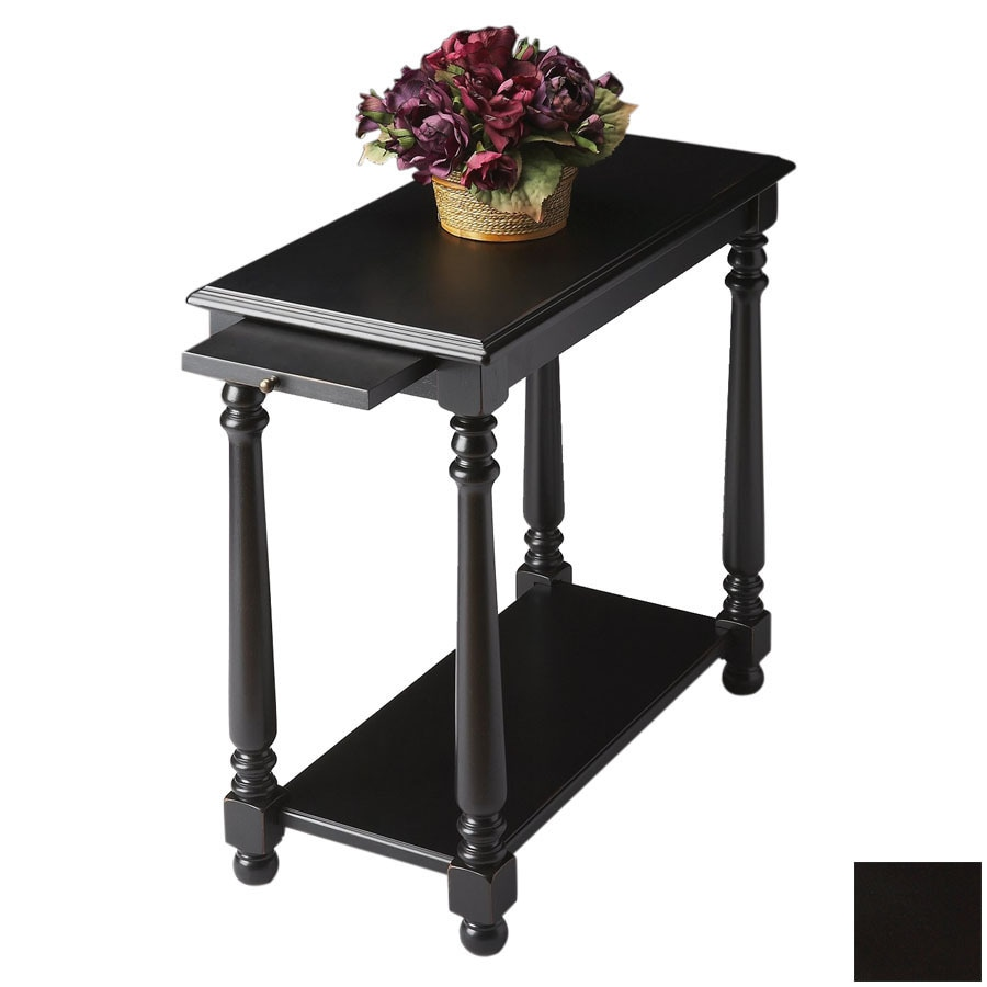 Shop Butler Specialty Black Licorice Rectangular End Table