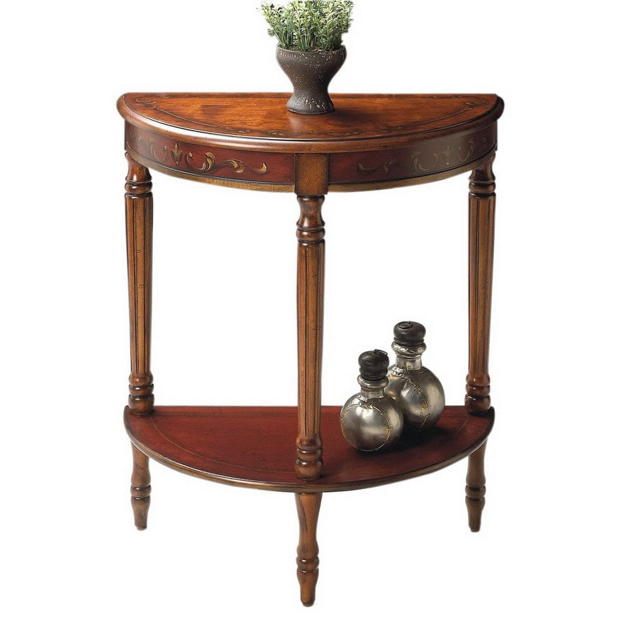 Butler Specialty Cherry/Red Paint Cherry Half Round End Table