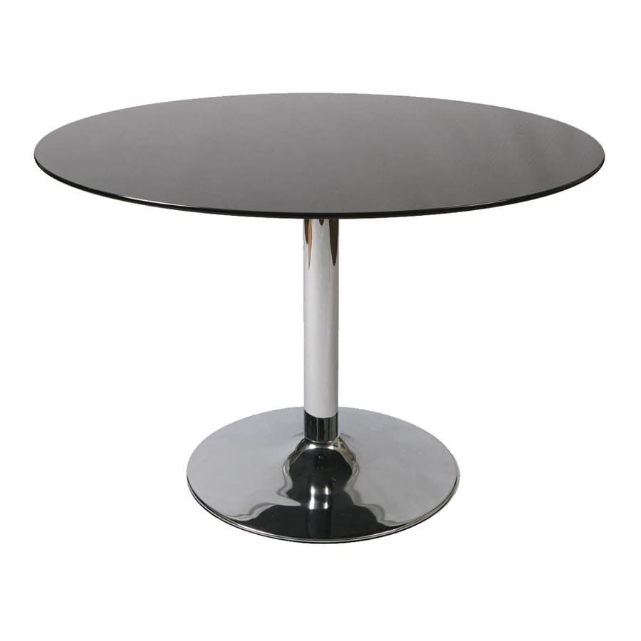 Shop impacterra sundance tempered glass round dining table for Tempered glass dining table