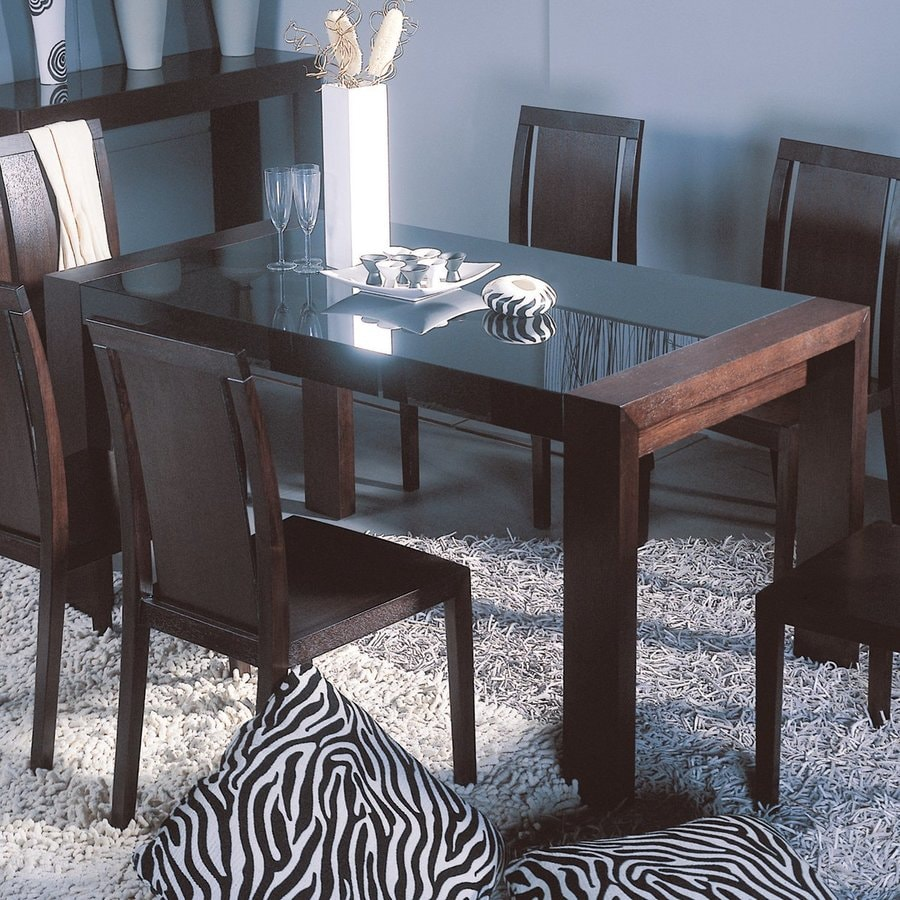Beverly Hills Furniture Reflex Tempered Glass Dining Table