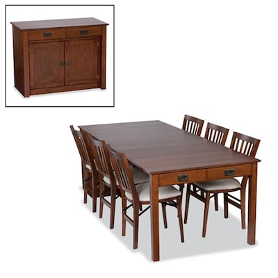 Stakmore Mission Cherry Rectangular Expanding Table At Lowes Com