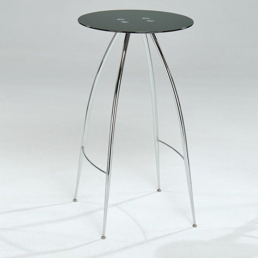 New Spec Cafe 320 Chrome Black Round Dining Table At Lowes