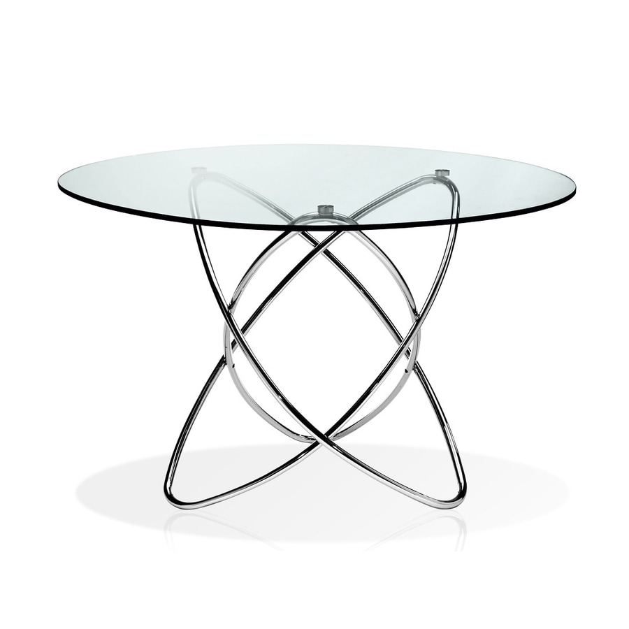 New Spec Cafe Chrome Round Dining Table