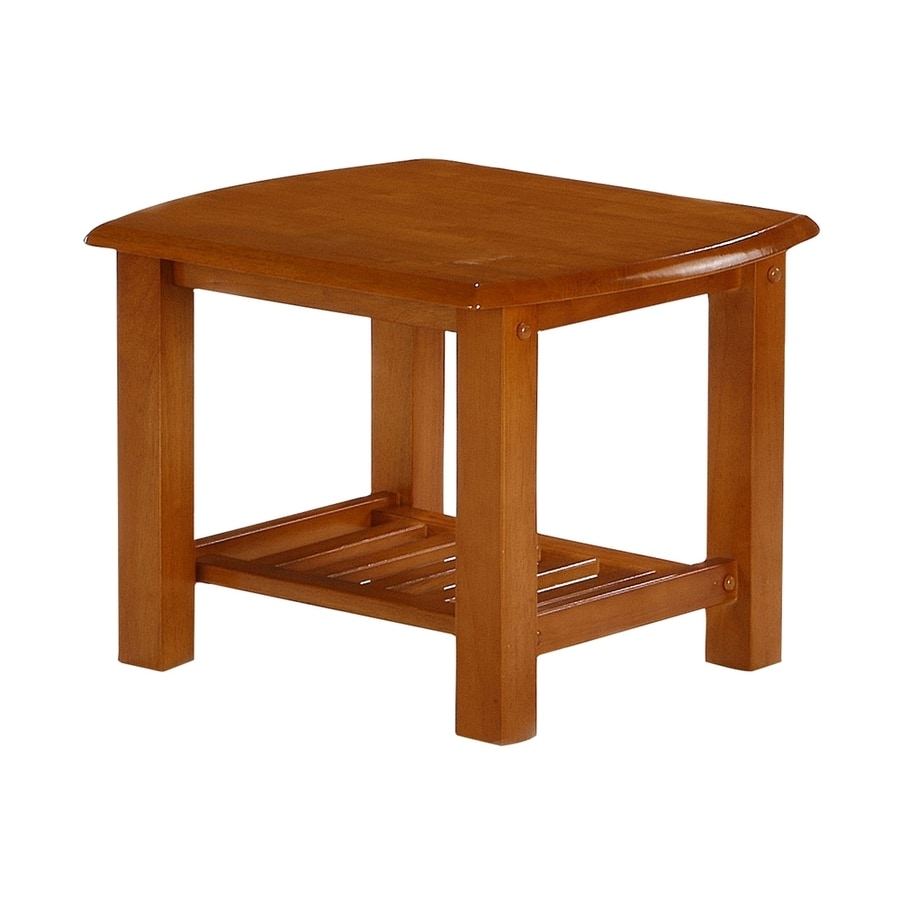 Shop night day furniture honey oak rubberwood end table at Honey oak coffee table