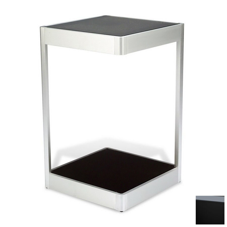 Shop The Ergo Office Black Glass Metal Square End Table At Lowescom