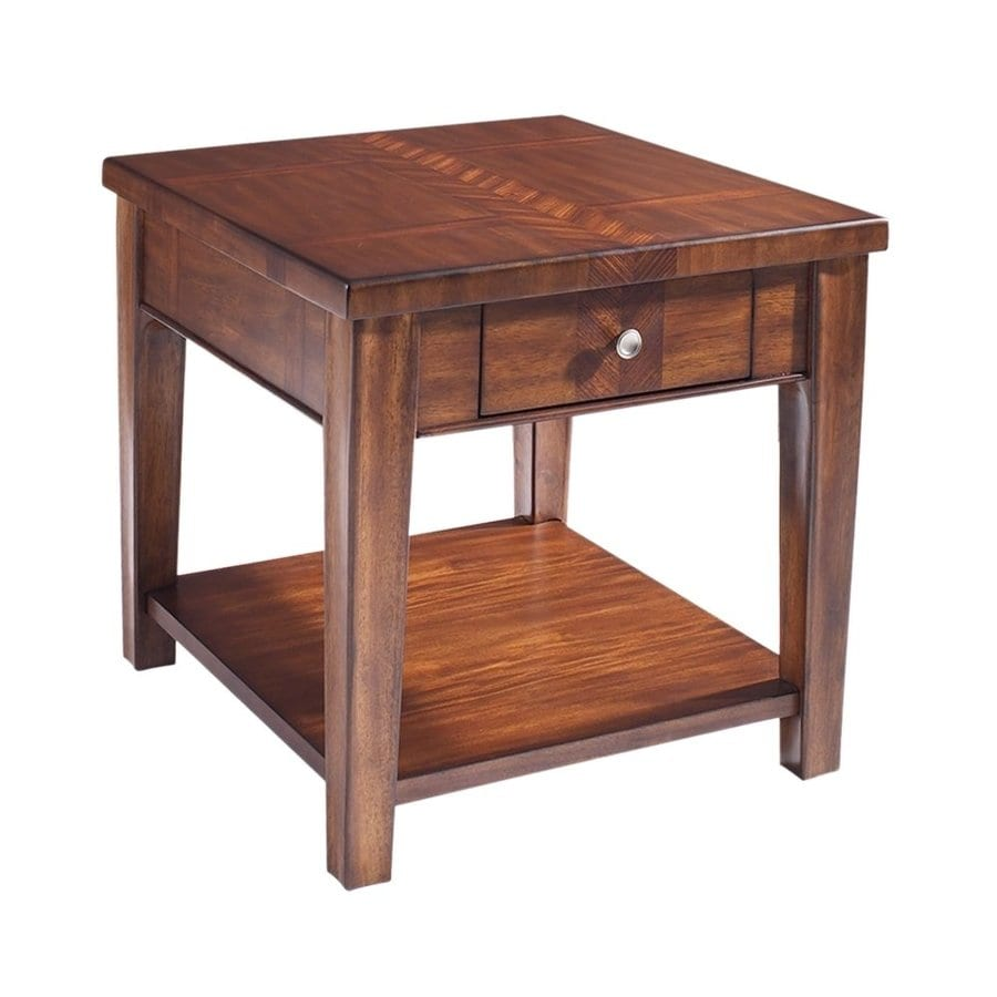 Somerton Home Furnishings Runway Warm Chestnut End Table