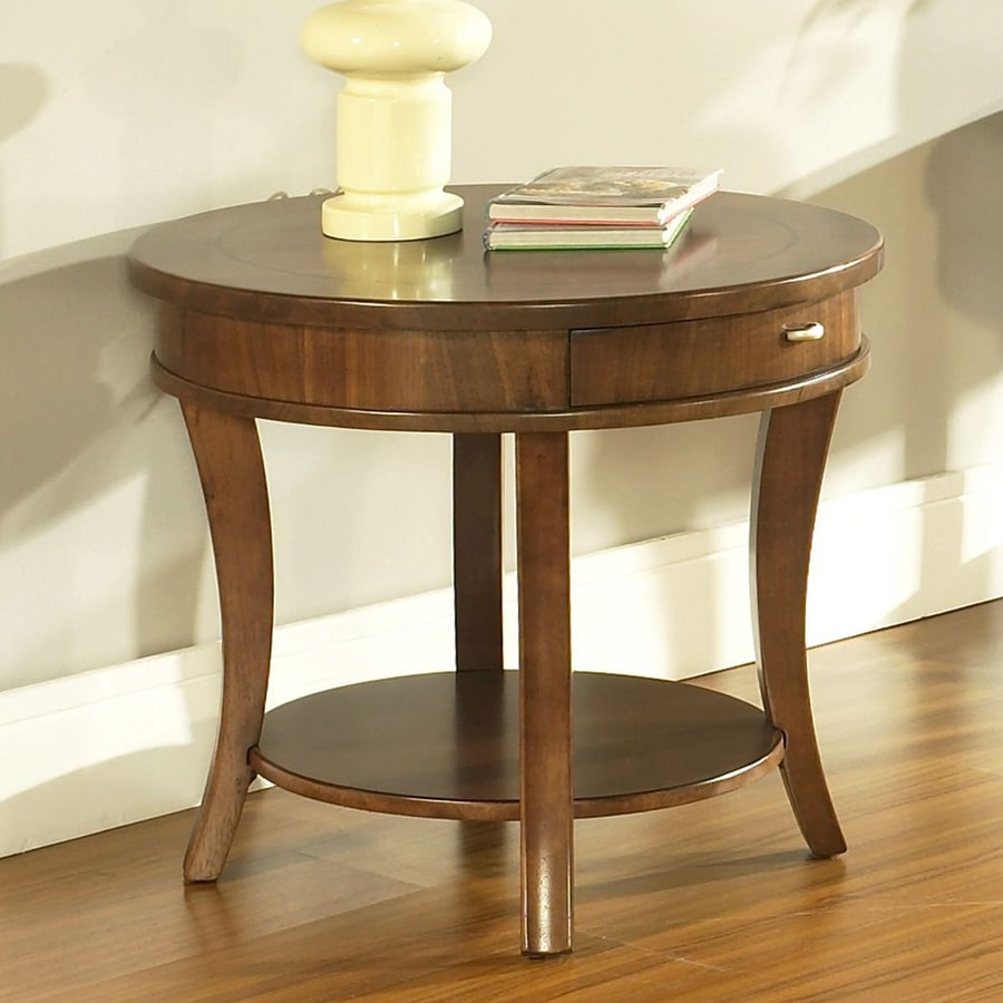 Somerton Home Furnishings Gatsby Walnut/Medium Brown Oval End Table