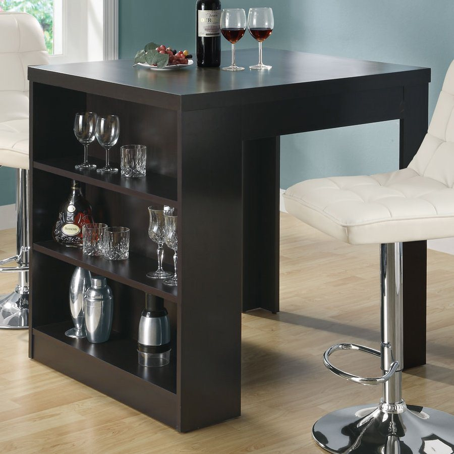 shop monarch specialties cappuccino wood counter table at. Black Bedroom Furniture Sets. Home Design Ideas