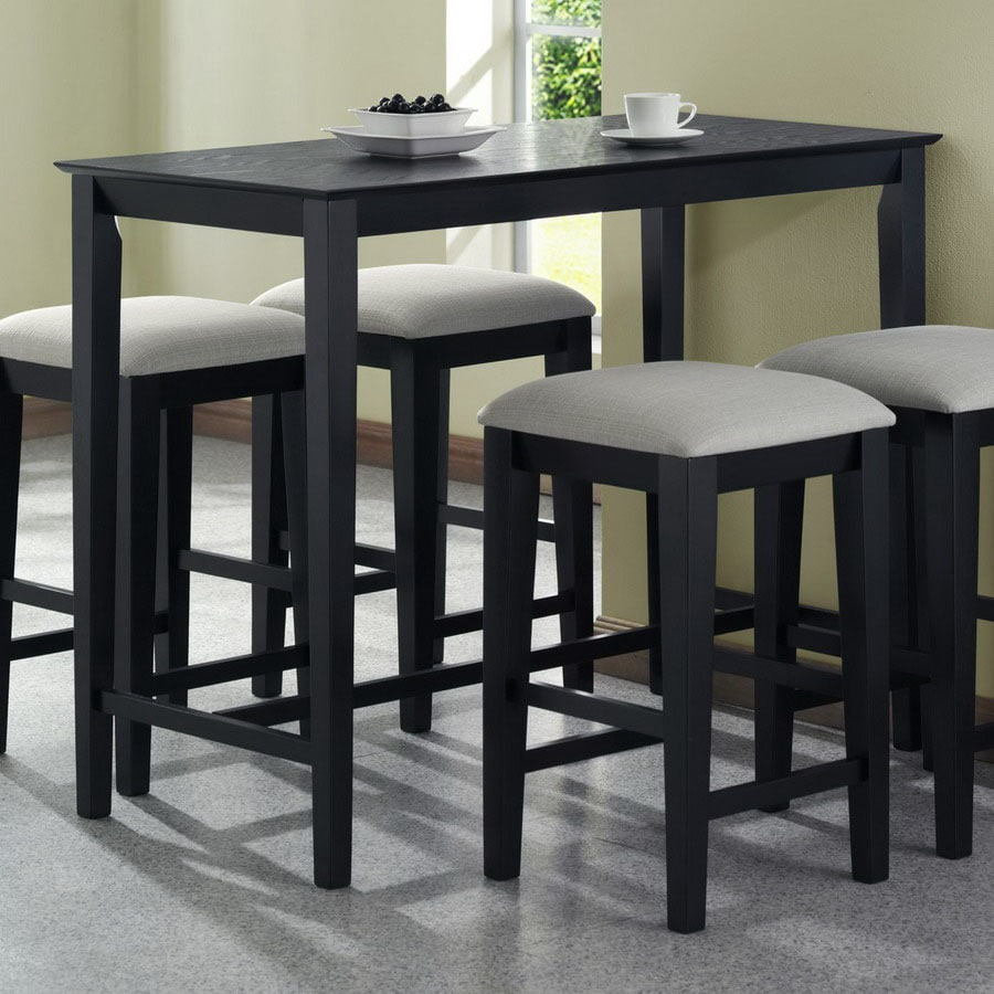 Great Monarch Specialties Black Oak Rectangular Counter Height Dining Table