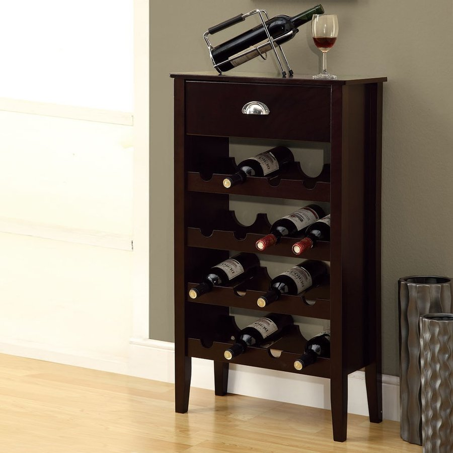 Shop monarch specialties 16 bottle cappuccino freestanding for Floor wine rack