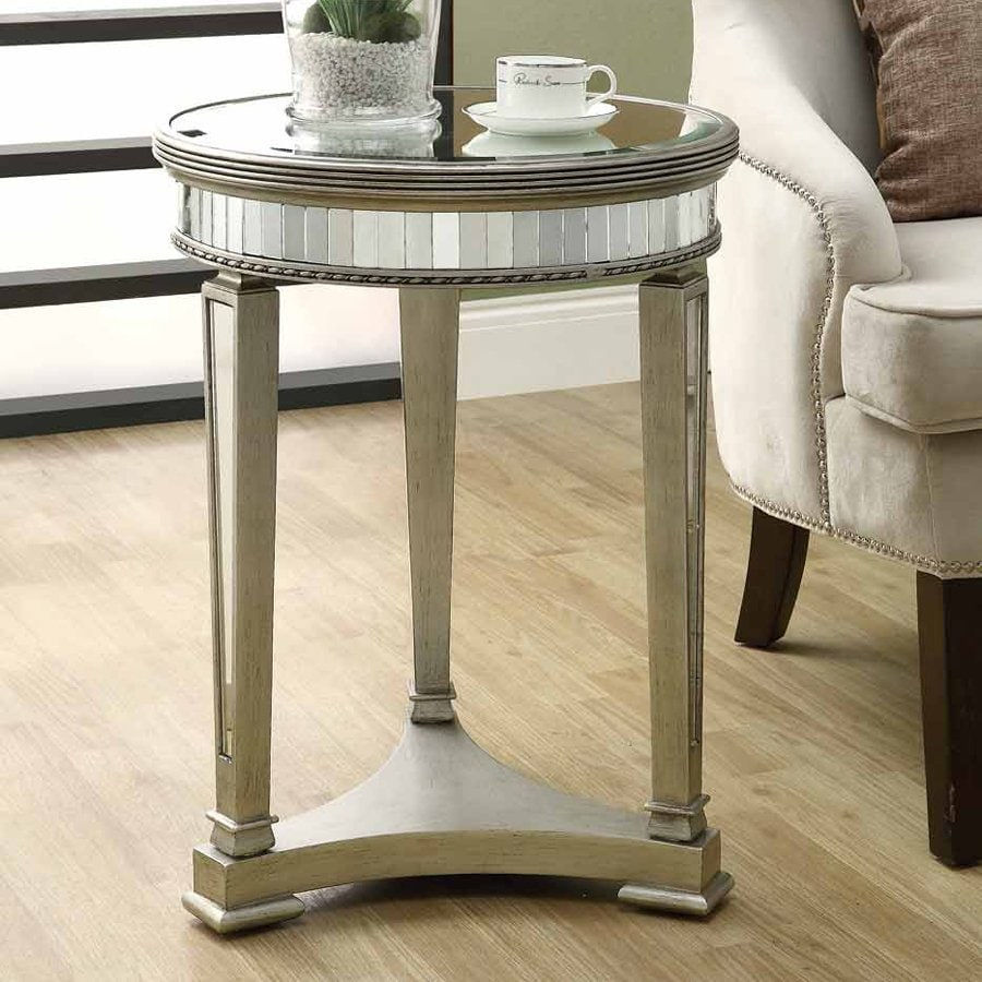 Ordinaire Monarch Specialties Mirror Modern End Table