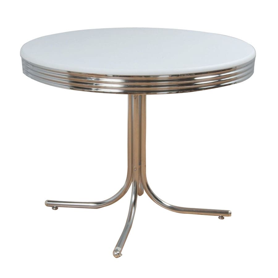 Bon TMS Furniture Retro White Composite Round Dining Table