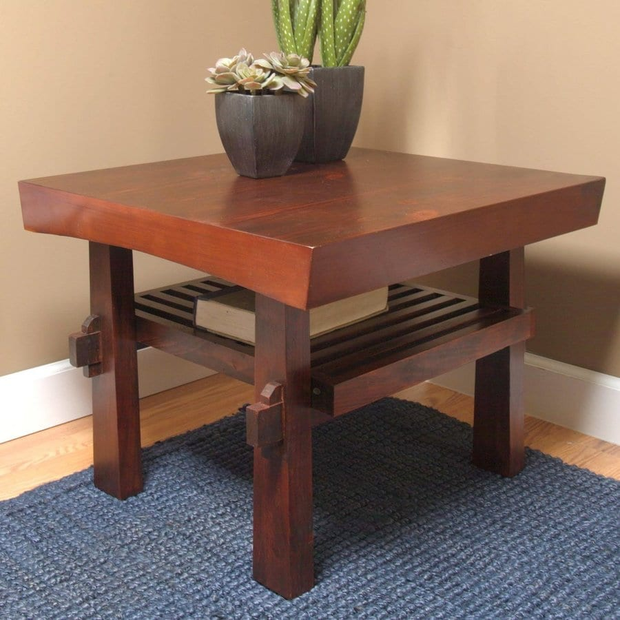Shop TMS Furniture Koreana Dark Walnut Pine End Table at  : 4413895 from www.lowes.com size 900 x 900 jpeg 125kB