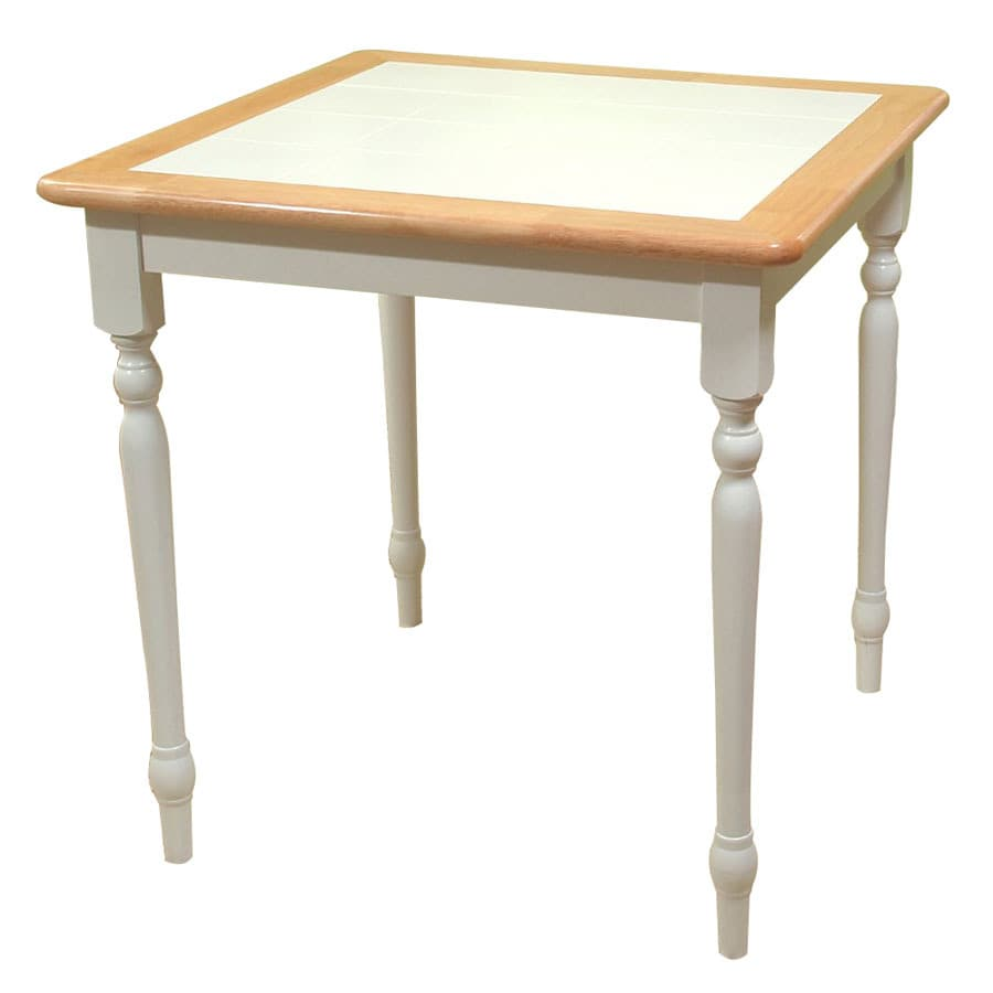 Shop Tms Furniture White Natural Tile Dining Table At