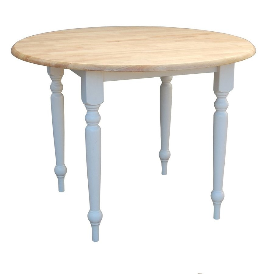 Shop tms furniture white natural wood round extending for White round dining table